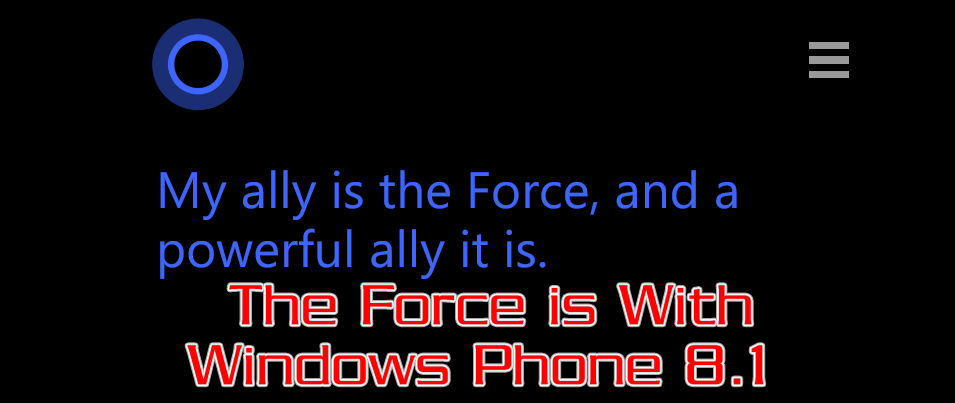 Windows Phone 8.1 a fun Star Wars Fan