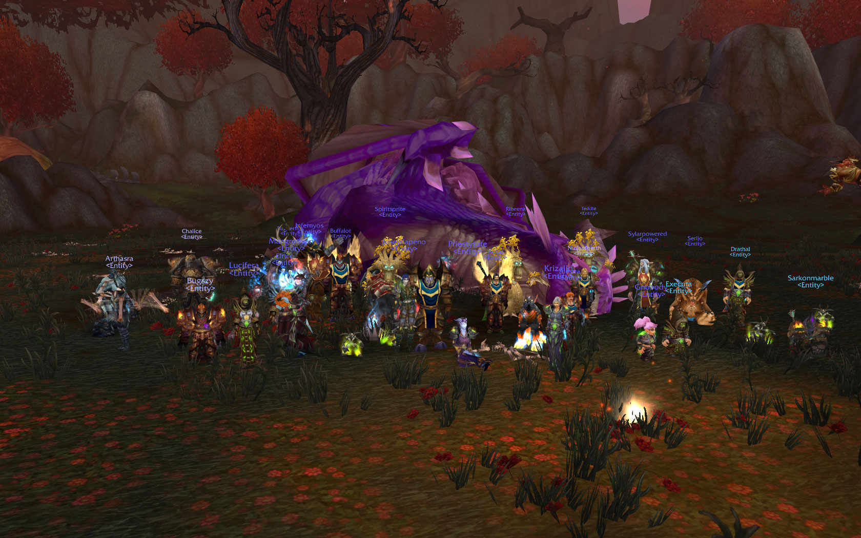 Entity back online! In World of Warcraft!